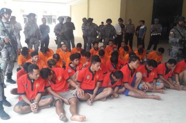 "Polisi ""Kerangkeng"" 32 Penjahat, 19 Orang di Bawah Umur"