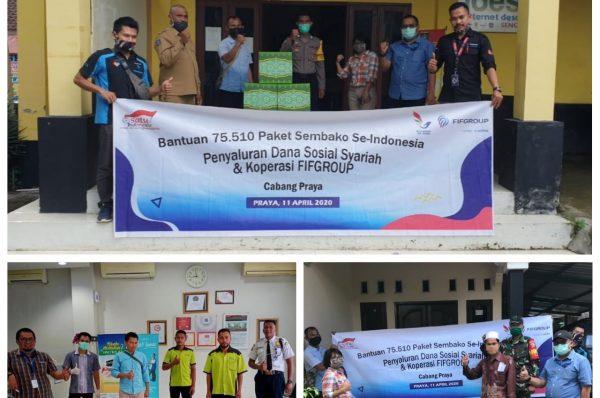 FIF GROUP Cabang Praya Salurkan 270 Paket Sembako
