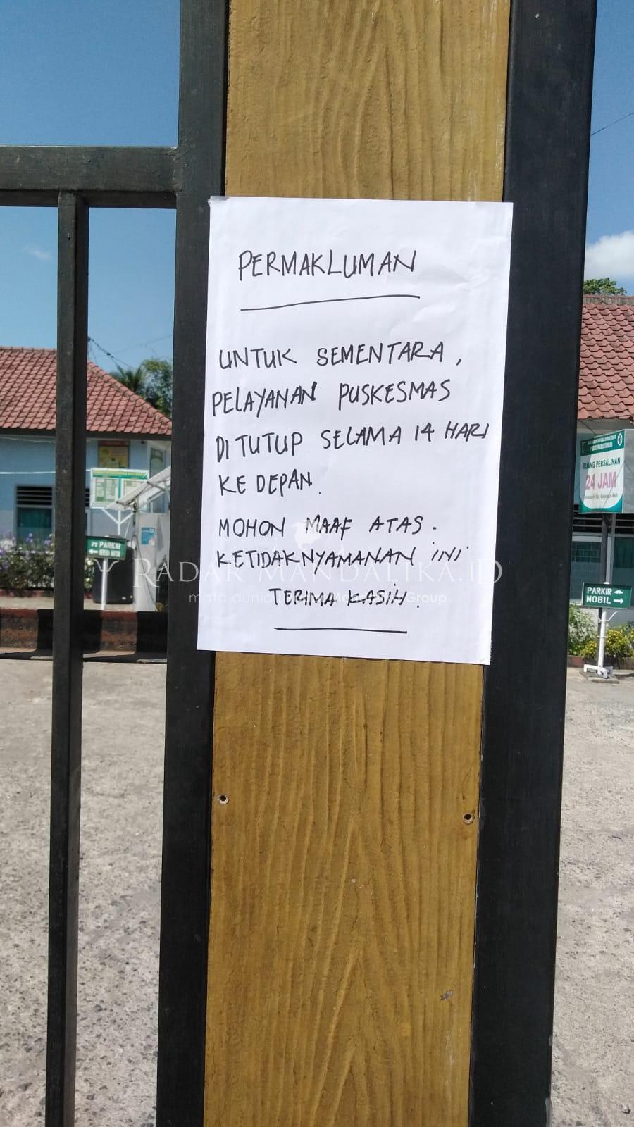 Puskesmas Kotaraja Tutup Gara-gara Enam Petugas Dinyatakan Reaktif