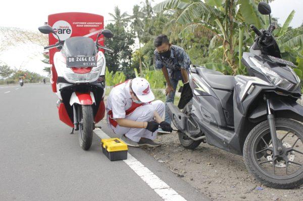 Motor Mogok di Jalan, Tinggal Hubungi Honda Care
