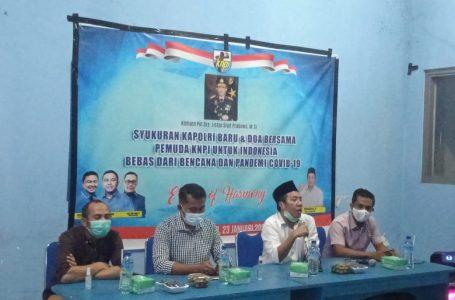 Arif/ radarmandalika.id  Wakil ketua DPP KNPI Sulham Muhlis dan Dir intel Polda NTB, ombes Pol Sutrisno