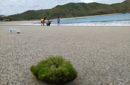 KHOTIM/RADARMANDALIKA.ID INDAH: Pantai Kuta Lombok Tengah terlihat sepi di masa pandemi.